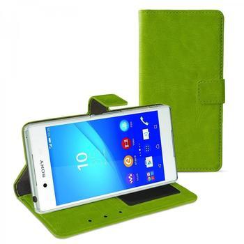 eFabrik Case für Sony Xperia Z3+ Schutzhülle grün ( Xperia Z3 plus ) Handy Tasche Kunstleder