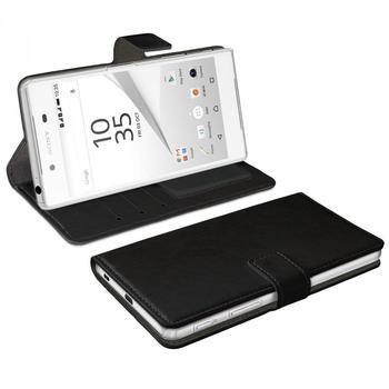 eFabrik Schutzhülle für Sony Xperia Z5 Tasche Handy Zubehör Hülle mit Aufsteller Innenfächer Bookstyle Design Case Kunstleder