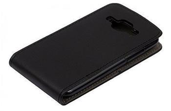 Telstar Handyhülle Schutzhülle Flip Slim Flex Handytasche für Samsung J1 Schwarz