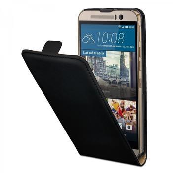 eFabrik Hülle für HTC One M9 Schutzhülle Handy Tasche Smartphone Flip Cover in Schwarz