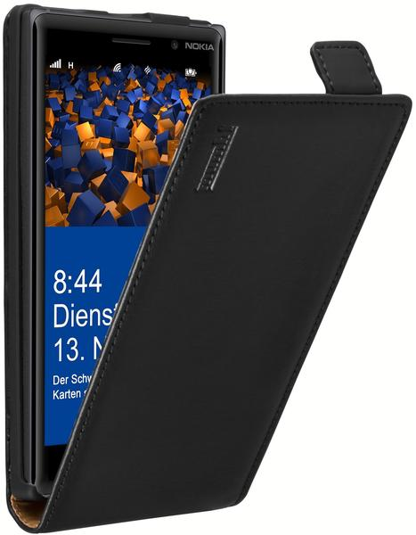 mumbi Flip Case schwarz für Nokia Lumia 830
