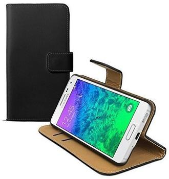eFabrik Kunstlederhülle für Samsung Galaxy Alpha ( SM-G850F ) Schutz Tasche Hülle Case Cover Aufsteller Innenfächer schwarz