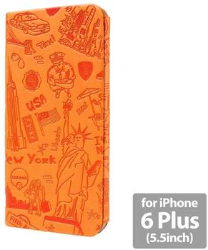 Ozaki O!Coat Travel Case New York orange (iPhone 6 Plus)