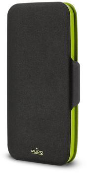 Puro Bi-Color Wallet Case black/green (Samsung Galaxy S5)