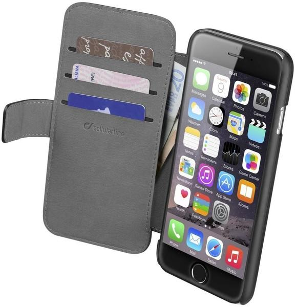 Cellular Line Bookcase Book Agenda (iPhone 6/6S) schwarz