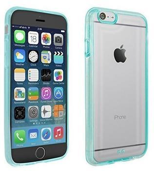eFabrik Schutzhülle für Apple iPhone 6 Case Hülle Schutz Cover Handyhülle Bumper klar transparent hellblau