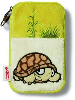 NICI Handytäschchen Schildkröte Plüsch, 15 x 9 cm