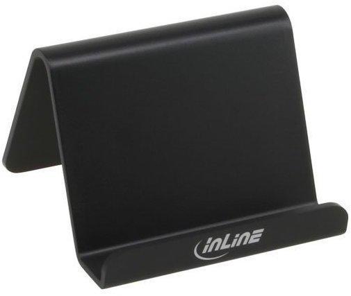 InLine Smartphone und Handy Halterung für SchreibtischRegal, schwarz