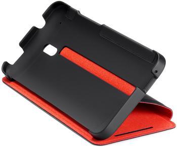 HTC Klappetui HC V851 schwarz/rot (HTC One Mini)