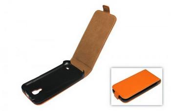 Telstar Tasche (Flip Slim) für Samsung Galaxy S4 mini (I9190) orange