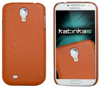 Katinkas Design Leder Cover orange für Samsung Galaxy S4
