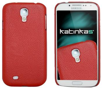 Katinkas Design Leder Cover rot für Samsung Galaxy S4