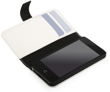 Trendwerk77 Leder Flip Tasche weiß für iPhone 5
