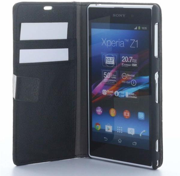 XiRRiX Wallet-Style Tasche Vertikal mit Halterung Sony Xperia Z1 - schwarz