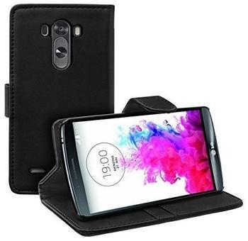 eFabrik Etui LG G3 Tasche Tasche Case Flip Cover SchutzTasche Schutztasche Schwarz
