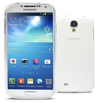 eFabrik Zuverlässige Hülle Samsung Galaxy S4 GT-I9500 GT-I9505 Tasche Case Schutzhülle TPU Silikon Weiß Transparent