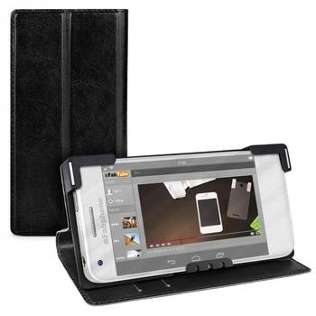 eFabrik Universal Smartphone Tasche 4 - 4.5 Zoll Schutz Hülle Case Cover Schutztasche Schutzhülle Handyhülle Etui Leder-Optik schwarz