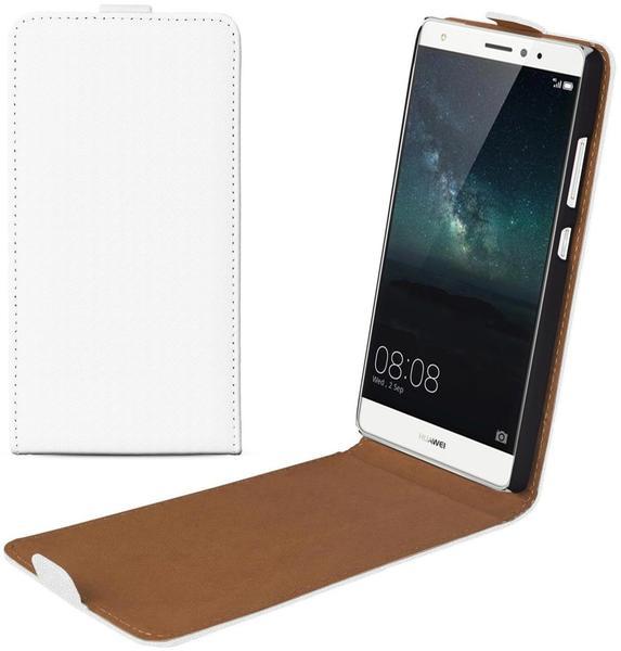eFabrik Tasche für Huawei Mate S (5.5 Zoll) Flip Case Hülle Schutz Kunstleder weiß