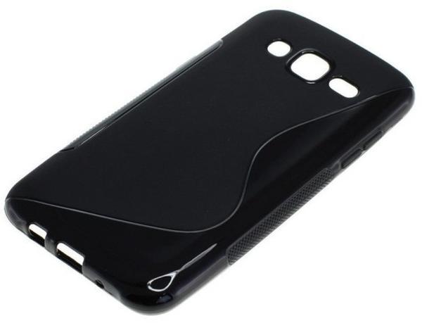 Onni-Tec OTB TPU Case kompatibel zu Samsung Galaxy J5 SM-J500F S-Curve schwarz