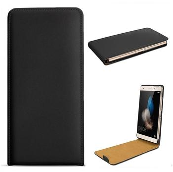 eFabrik Flip Case für Huawei P8 lite Lederhülle Ledertasche Schutz Tasche Hülle schwarz
