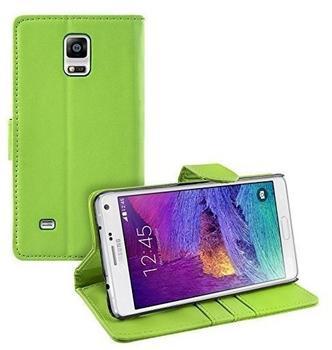 eFabrik Schutzhülle Samsung Galaxy Note 4 Hülle Case Tasche Cover Schutztasche Leder-Optik grün