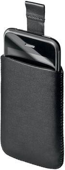 Telstar Ledertasche Slide schwarz für iPhone 3G3GS