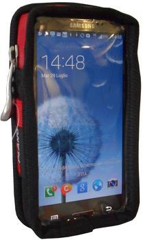 PAPYRUS P549XL Smartphone-Tasche XL Schwarz, Rot
