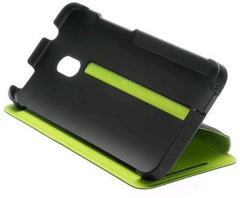 HTC Klappetui HC V851 schwarz/grün (HTC One Mini)