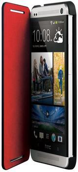 HTC Klappetui HC V841 schwarz/rot (HTC One)