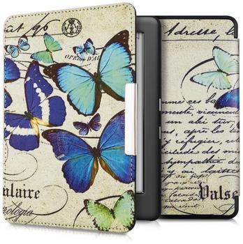 KW-Commerce kwmobile Flip Kunstlederhülle für Kobo Glo HD Touch 2.0 Schmetterlings Design, 34348.01