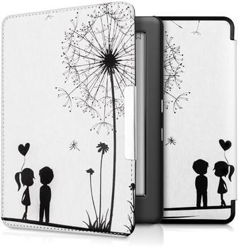 KW-Commerce kwmobile Flip Kunstlederhülle für Kobo Glo HD Touch 2.0 Pusteblume Love Design, 34348.03