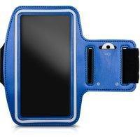 KW-Commerce kwmobile Sportarmband mit Schlüsselfach für Smartphones Blau 29946.3.04