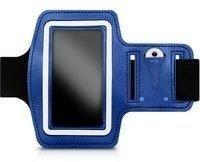 KW-Commerce kwmobile Sportarmband mit Schlüsselfach für Smartphones Blau 29946.2.04