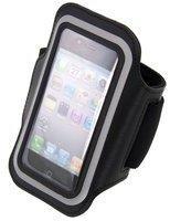 KW-Commerce kwmobile Sportarmband mit Schlüsselfach für Apple iPhone 5 5S Schwarz