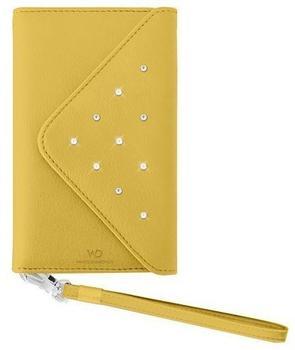 White Diamonds Premium Galben Handy Tasche für Samsung Galaxy S5 gelb