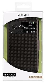 iCandy View BookCover carbon schwarz für Samsung Galaxy S4