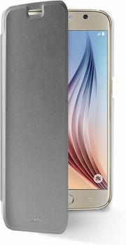 PURO Booklet Wallet Collection für Samsung Galaxy S6 silbern/transparent