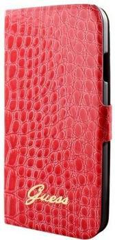 Bigben Guess Folio Case Croco rot (Samsung Galaxy S4)