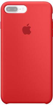 Apple Silikon Case (iPhone 7 Plus) rot