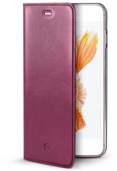 Celly Echtleder-FlipCase für iPhone 7 Plus Air Pelle rosa