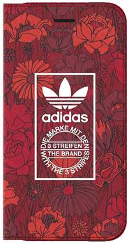 adidas Bohemian Tasche Book Cover Apple iPhone 7 Hülle Handytasche Rot