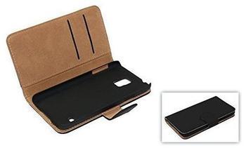 König-Shop Schutzhülle Handytasche (Flip Quer) Wallet für Handy Wiko Highway Pure Schwarz
