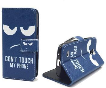 König-Shop Handyhülle Tasche für Handy Samsung Galaxy S4 Mini Dont Touch my Phone
