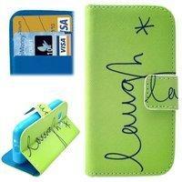 König-Shop Handyhülle Tasche für Handy Samsung Galaxy Young 2 SM-G130 Schriftzug