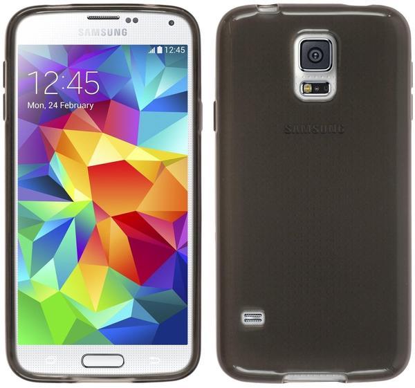PhoneNatic Silikonhülle für Samsung Galaxy S5 mini transparent schwarz