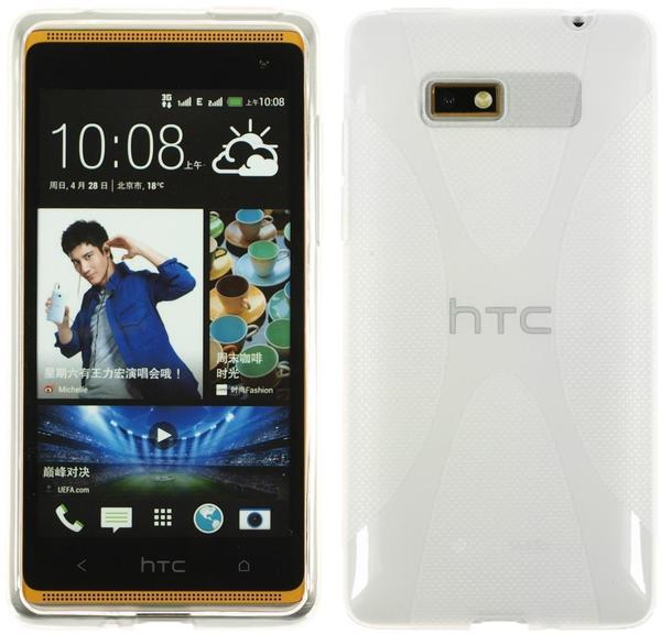 PhoneNatic Silikonhülle für HTC Desire 600 X-Style clear