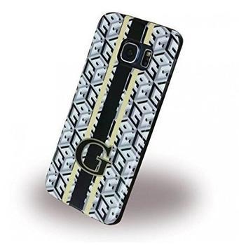 Guess G-Cube Cover Tasche Weiss,Schwarz für Samsung G925 Galaxy S6 Edge