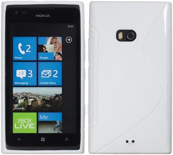 PhoneNatic Silikonhülle für Nokia Lumia 900 S-Style weiß