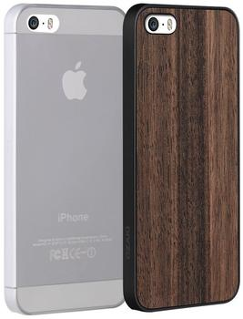 Ozaki OC589EC, Jelly transparent + Wood CASE IPH SE/5/5s