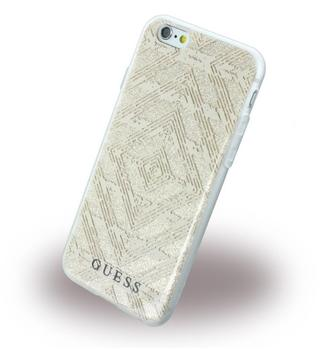 Guess 3D Effect Aztec Tribal GUHCP6TGGBE - Silikon CoverSchutzhülle - Apple iPhone 6, 6s - Beige
